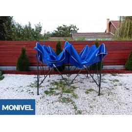 3x3 Rendezvény sátor árusító piaci horgász kerti pavilon kék