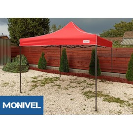3x3 Rendezvény sátor árusító piaci horgász kerti pavilon piros