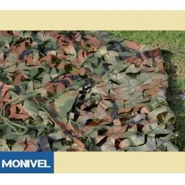 5x4m álcaháló dekoráció, árnyékoló terep színű álca háló