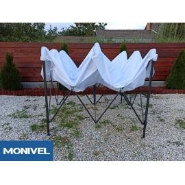 3x3 Rendezvény sátor árusító piaci horgász kerti pavilon fehér vastag ponyv