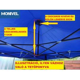 3x3-as tetőponyva rendezvény sátorhoz (csak tetőponyva) kék