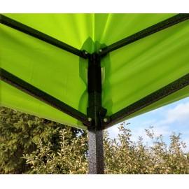 3x6 Rendezvény sátor árusító piaci horgász kerti pavilon zöld