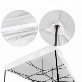 3x6 Rendezvény sátor árusító piaci horgász kerti pavilon fehér vastag ponyv
