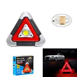 Elakadásjelző háromszög akkus reflektor lámpa akkumulátoros munkalámpa