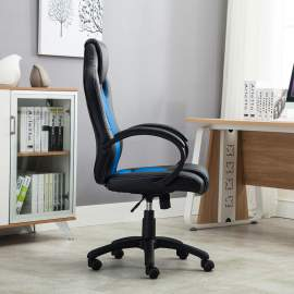 Racing irodai szék, vezetői forgószék  kék-fekete