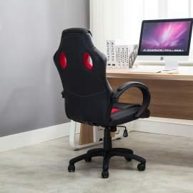 Racing gamer sport irodai szék, vezetői fotel forgószék piros-fekete