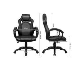 Racing gamer sport irodai szék, vezetői fotel forgószék fekete
