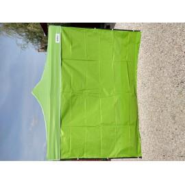 2m oldalfal lime zöld oldalponyva rendezvény sátorhoz tépőzáras