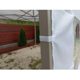 3m ablakos oldalfal fehér oldalponyva rendezvény sátorhoz