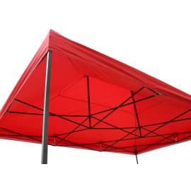3x2 piros rendezvény sátor árusító piaci horgász kerti pavilon
