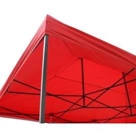 3x6 piros rendezvény sátor árusító piaci horgász kerti pavilon