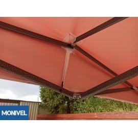 3x3 UV álló piros tetőponyva sátortető sátorponyva ponyva