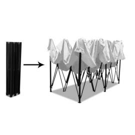 3x6 fehér tetőponyva sátortető sátor tető ponyva kerti pavilonhoz 6x3