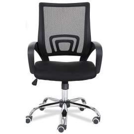 Mesh irodai szék forgószék szövet fekete