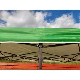 3x6 UV álló zöld tetőponyva kerti pavilonhoz rendezvény piaci sátorhoz 6x3