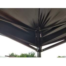 3x4,5 fekete tetőponyva sátortető sátorponyva ponyva kerti pavilonhoz