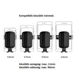Gravity autós telefon tartó szellőzőrácsra telefontartó