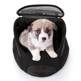 Kutya-cica kisállat hordozó táska hátizsák fekete