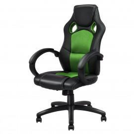 Racing gamer sport irodai szék vezetői fotel forgószék zöld-fekete