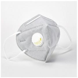 Készletről FFP2 védő maszk szürke munkavédelmi aktívszenes szelepes porvédő