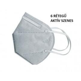 Készletről Aktív szenes FFP2 kn95 védő maszk szürke szájmaszk  porvédő arcm