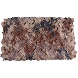 """"""" Brown Digital """" 3x2m álcaháló dekoráció, árnyékoló terep színű álca háló álcaruha"""