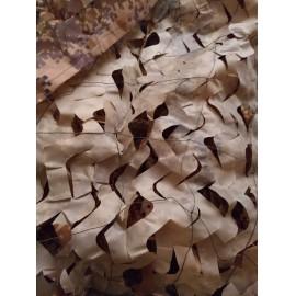 """"""" Brown Digital """" 3x4m álcaháló dekoráció, árnyékoló terep színű álca háló álcaruha"""