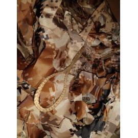 """"""" Brown Digital """" 5x4m álcaháló dekoráció, árnyékoló terep színű álca háló álcaruha"""