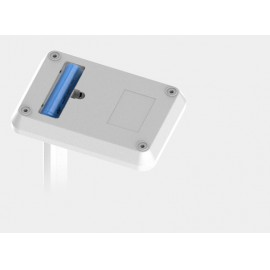 Asztali akkumulátoros led lámpa telefontartóval, 3 színhőmérséklet