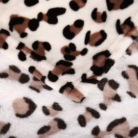 200x230cm puha takaró wellsoft ágytakaró leopárd
