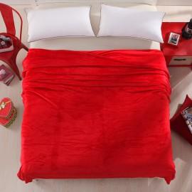 Piros 200x230cm puha takaró wellsoft ágytakaró