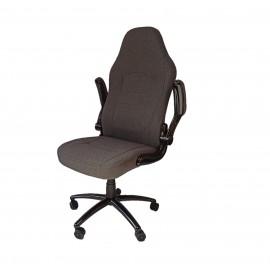 Szürke szövet irodai szék forgószék főnöki fotel nagy méretű FK