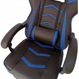 Gamer-DL fekete kék gamer szék irodai szék forgószék vezetői fotel
