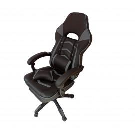 Gamer-DL fekete szürke szék irodai szék forgószék vezetői fotel lábtartóval
