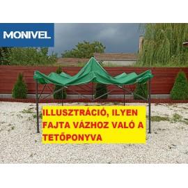 3x3-as tetőponyva rendezvény sátorhoz (csak tetőponyva) zöld