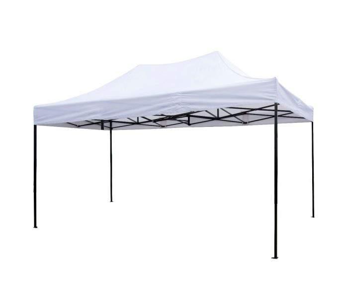 77b581543205 3x4,5 Rendezvény sátor árusító piaci horgász kerti pavilon fehér vastag pon