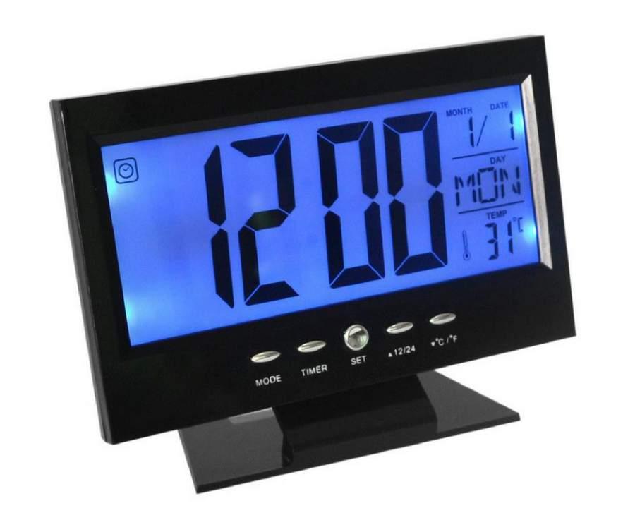Voice asztali óra és hőmérő hangvezérelt háttérvilágítással