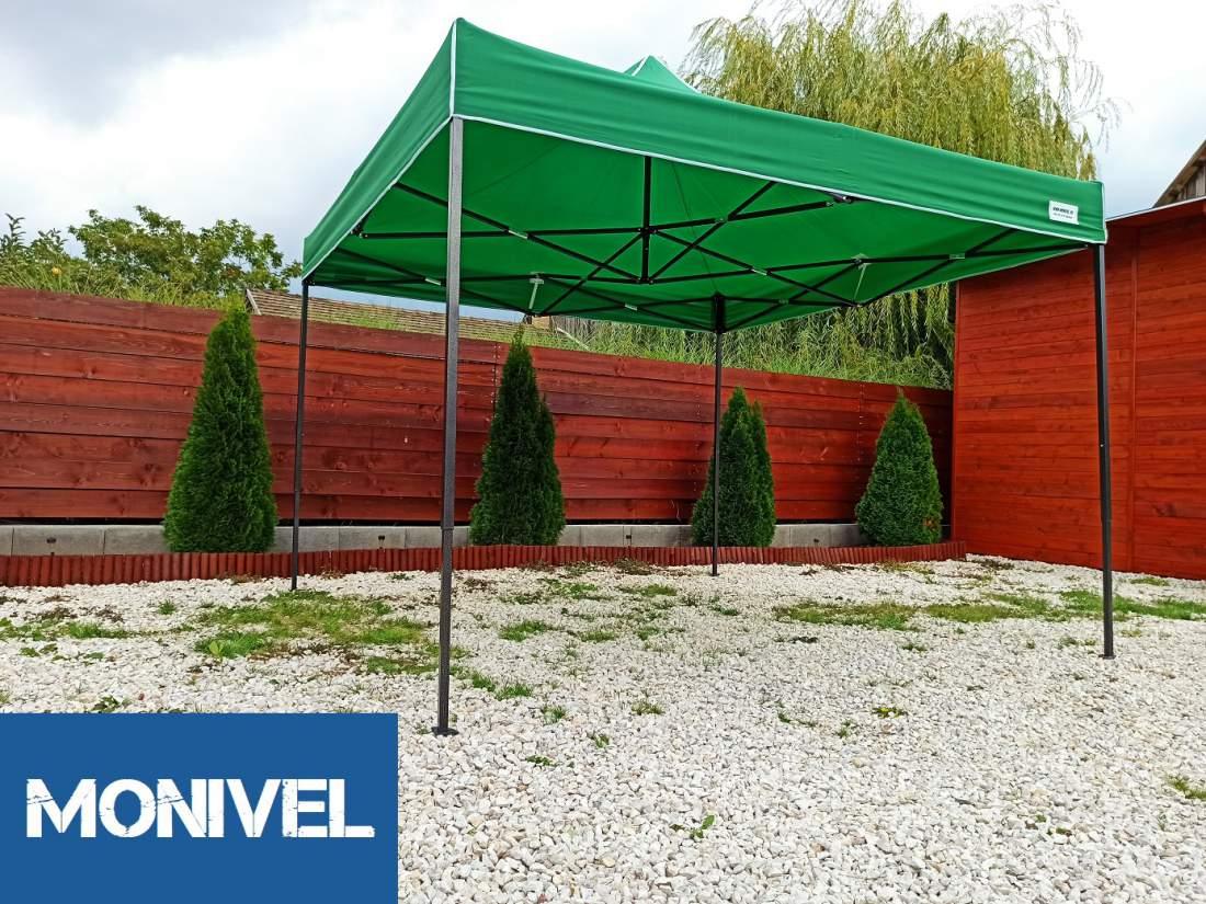 2x2 zöld Rendezvény sátor árusító piaci horgász kerti pavilon