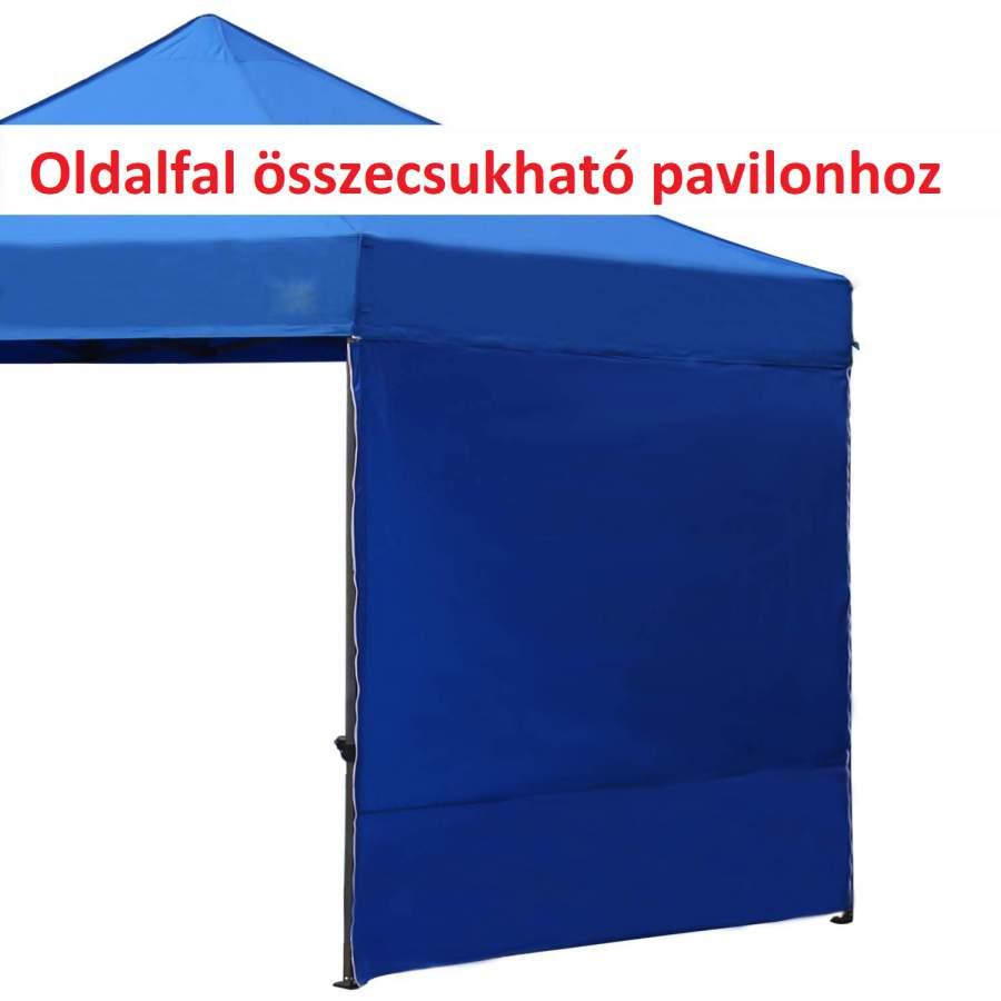 2m oldalfal kék oldalponyva rendezvény sátorhoz