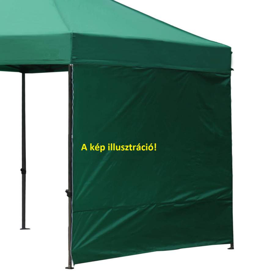 4,5m oldalfal zöld oldalponyva rendezvény sátorhoz