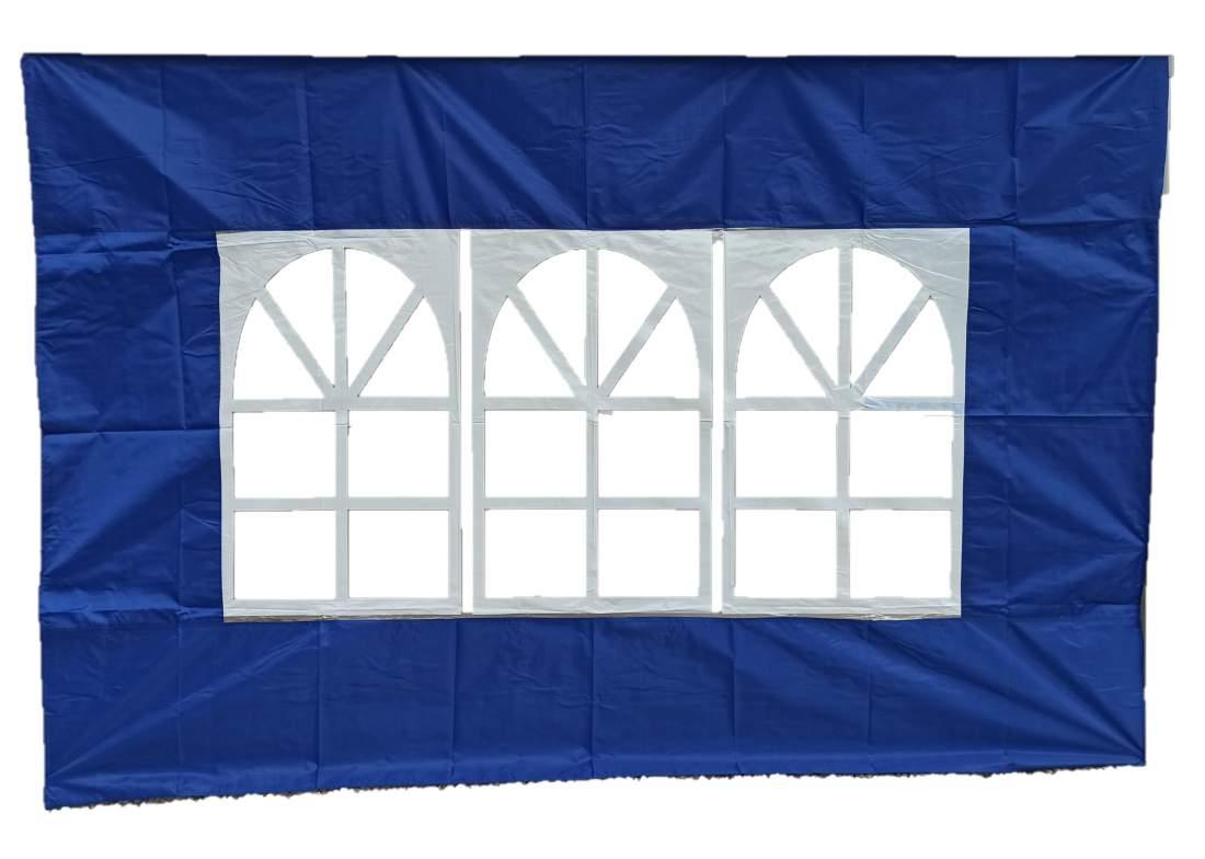 3m ablakos oldalfal kék oldalponyva rendezvény sátorhoz