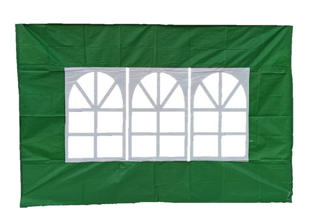 3m ablakos oldalfal zöld oldalponyva rendezvény sátorhoz