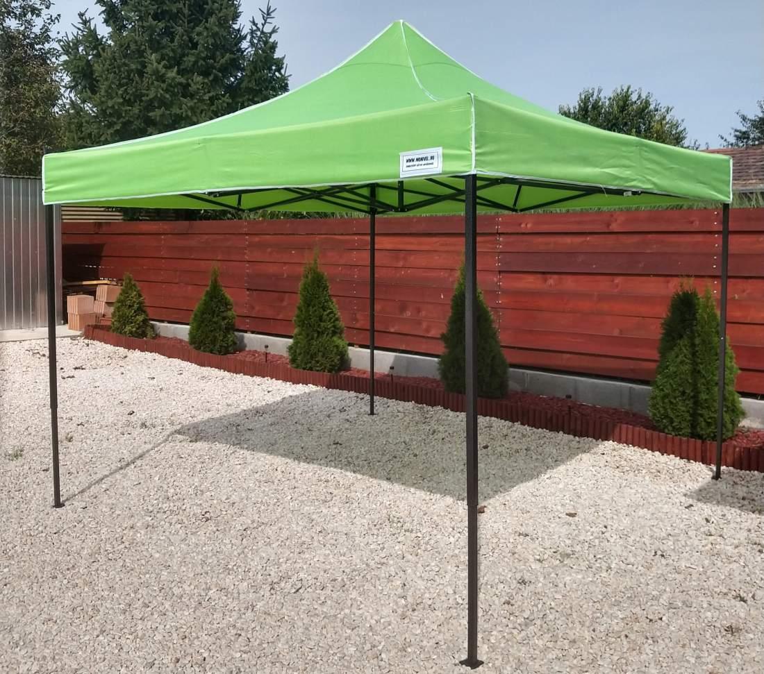 3x3 zöld rendezvény sátor árusító piaci horgász kerti pavilon