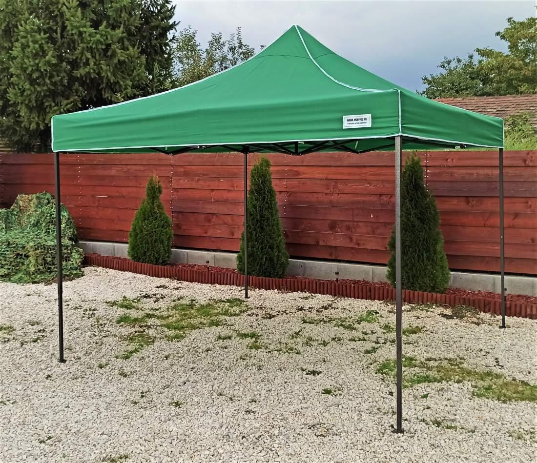 UV álló 3x3 zöld rendezvény sátor árusító piaci horgász kerti pavilon