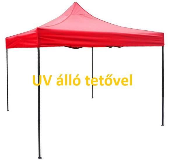 UV álló 3x3 piros rendezvény sátor árusító piaci horgász kerti pavilon