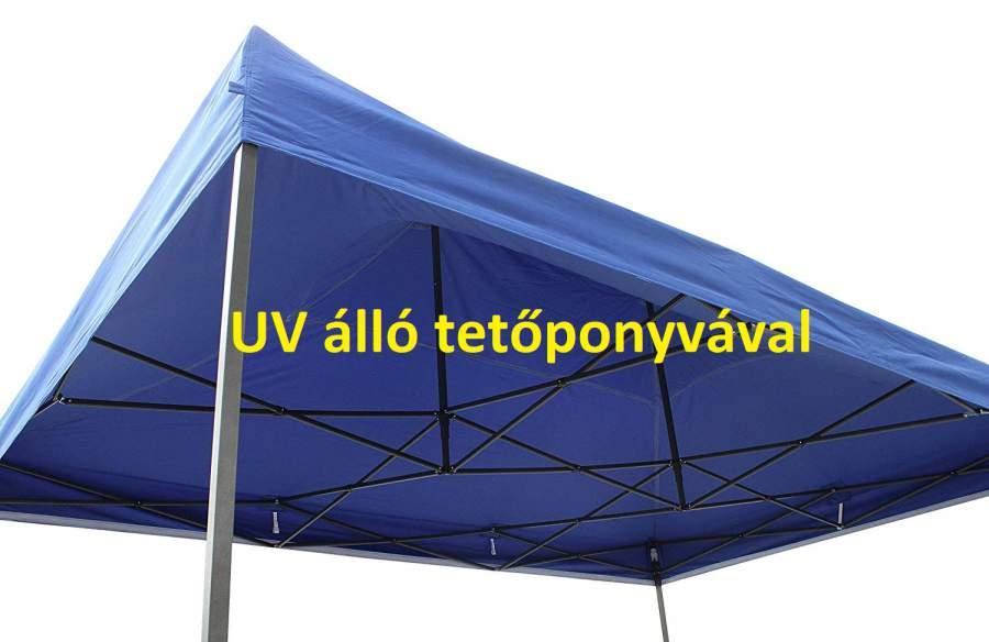 UV álló 3x4,5 kék rendezvény sátor árusító piaci horgász kerti pavilon