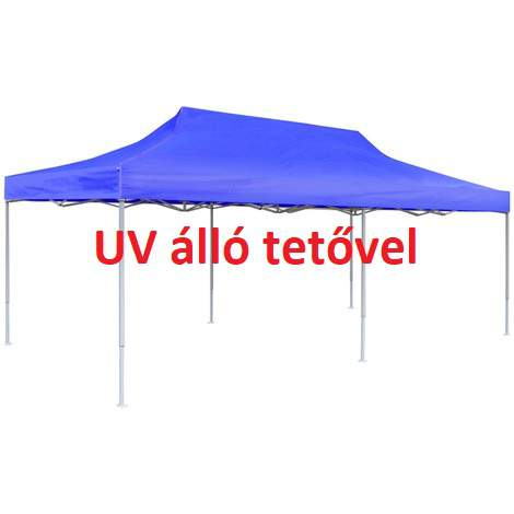 UV álló 3x6 kék rendezvény sátor árusító piaci horgász kerti pavilon 6x3