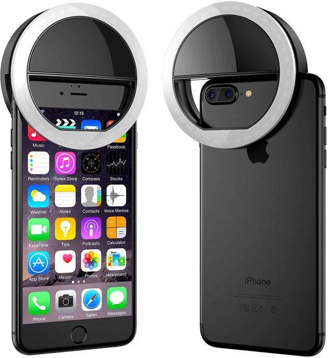 Selfie Ring Light LED Fénygyűrű, Ledes Szelfi Fénykarika, 3 fokozat