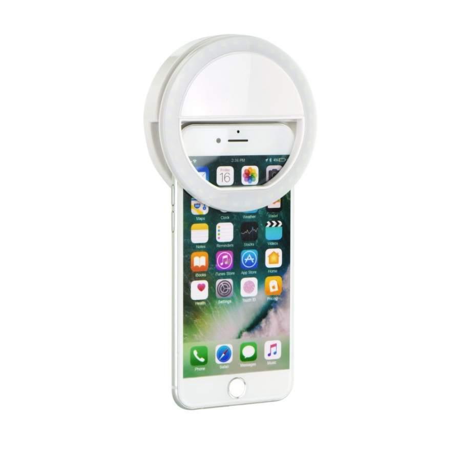 Selfie Ring Light LED Fénygyűrű, Ledes Szelfi Fénykarika, 3 fokozat fehér