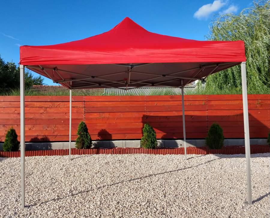 3x3 Erős vízálló pavilon piaci rendezvény horgász árusító sátor piros